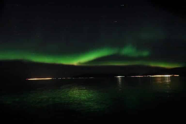 northern lights viewed in iceland